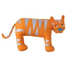 Funny Friends Tooth Fairy Tiger Throw Pillow in Orange