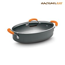 Hard-Anodized II Nonstick 5-qt. Paella Pan with Lid