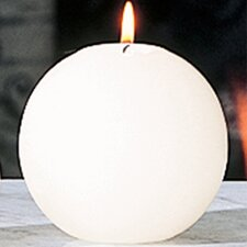 Unscented Small Ball Candle in Ivory