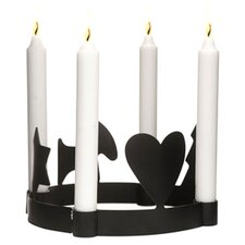 Advent Candle Holder in Black