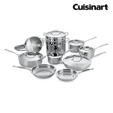 Chef's Classic Stainless Steel 17 Piece Cookware Set