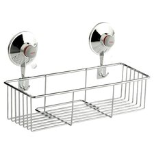 Shower Basket in Chrome with Suction Cups