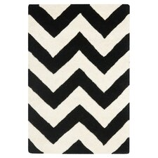 Chatham Chevron Ivory & Black Rug