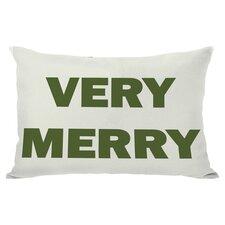 Holiday Very Merry Reversible Lumbar Pillow