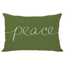 Holiday Peace Lumbar Pillow in Green