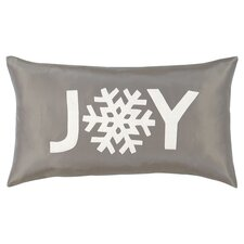 Dreaming of a White Christmas Joy Lumbar Pillow in Gray