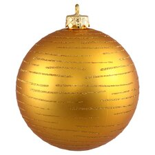 Ball Ornament in Antique Gold