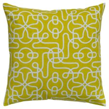 Ashley Reversible Throw Pillow in Yellow