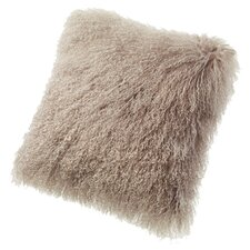Tibetan Sheepskin Throw Pillow in Dune