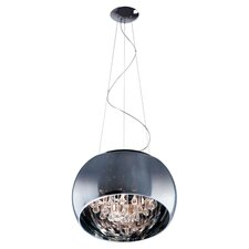 Satie 5 Light Pendant in Polished Chrome
