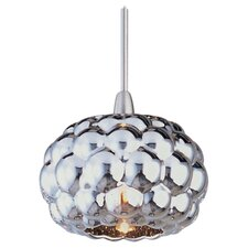 Sally 1 Light Pendant in Satin Nickel