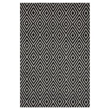Diamond Black & Ivory Rug