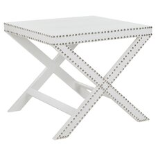 Jeanine End Table in White