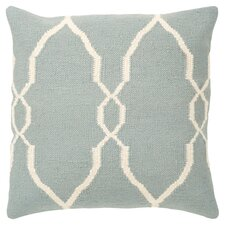 Juxtaposed Throw Pillow in Sky Blue