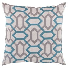 Connect the Diamonds Throw Pillow in Cream