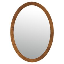 Oval Mirror in Cherry