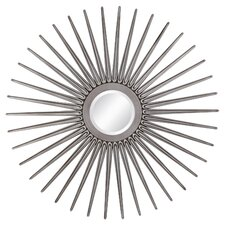 Tira Sun Mirror in Antique Silver