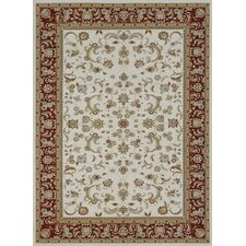 Welbourne Ivory/Red Area Rug