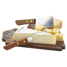4 Piece Cheese Board & Tool Set in Natural