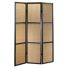 Haiku Folding 3 Panel Room Divider in Black