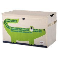Crocodile Toy Chest in Cream
