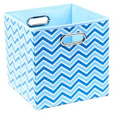 Sky Zig Zag Folding Storage Bin in Blue