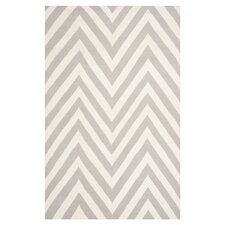 Dhurries Grey & Ivory Outdoor Area Rug