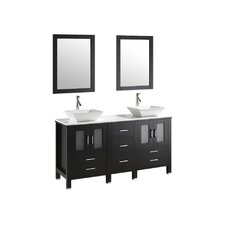 "Bradford 60"" Bathroom Vanity Set with Double Sink"