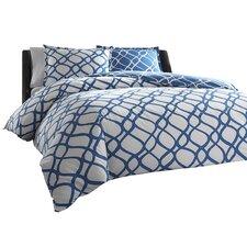 Arlo Duvet Cover Set in Blue & White