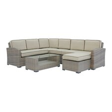 Ferrara 7 Piece Sectional Seating Group with Cushions