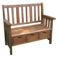 Highland Acacia 3 Drawer Garden Bench