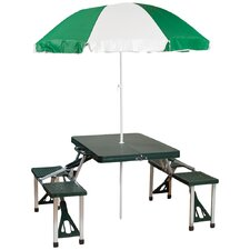 Picnic Table & Umbrella Combo Pack