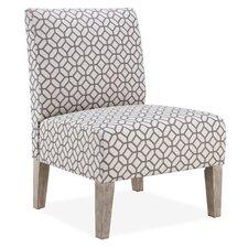 Brice Octagon Slipper Chair in Grey