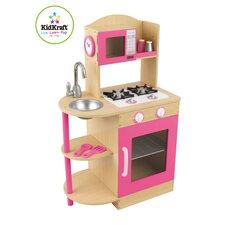 Pink Wooden Kitchen