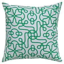 Ashley Throw Pillow in Green
