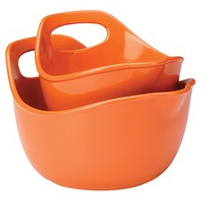 Rachael Ray 2 Piece Mixing Bowl Set in Orange
