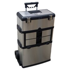 3 in 1 Suitcase Tool Box in Stainless Steel
