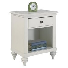 Bermuda 1 Drawer Nightstand in White