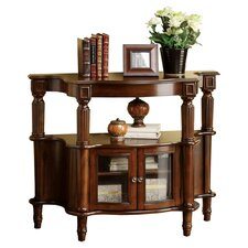 Raffi Console Table in Antique Walnut