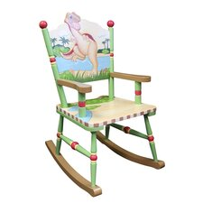 Dinosaur Kingdom Rocking Chair in Blue