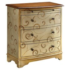3 Drawer Chest in Silver & Brown