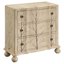 Juneau 3 Drawer Chest in Antique Ivory