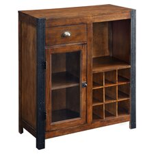 Cochran 9 Bottle Wine Cabinet in Warm Brown