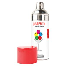 Kikkerland Graffiti Cocktail Shaker in Stainless Steel
