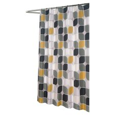 Metro Shower Curtain in White & Blue
