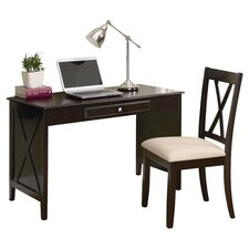 Writing Desk & Chair Set in Cappuccino