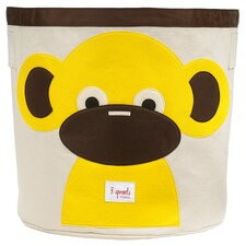 Monkey Storage Bin in Beige