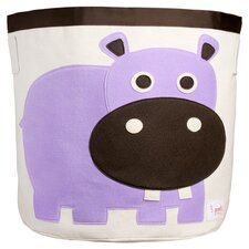 Hippo Storage Bin in Purple & Natural