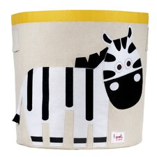 Zebra Storage Bin in Black & White
