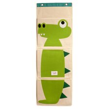 Crocodile Wall Toy Organizer in Beige